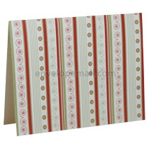Decorative Greetings A2 Folded Designer Card - White Linen 80 lb