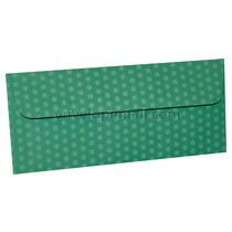 "Dotted Washi Green - No 10 Sq Flap (4-1/8 x 9-1/2"") Envelope 100 Pack"