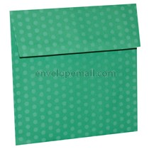 "Dotted Washi Green - Square (6-1/2 x 6-1/2"") Envelope 100 Pack"