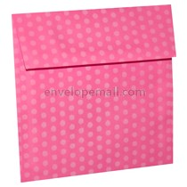 "Dotted Washi Pink - Square (6-1/2 x 6-1/2"") Envelope 100 Pack"