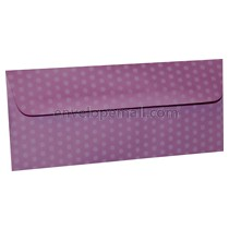 "Dotted Washi Purple - No 10 Sq Flap (4-1/8 x 9-1/2"") Envelope 100 Pack"