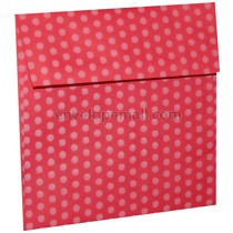 "Dotted Washi Red - Square (5-1/2 x 5-1/2"") Envelope 100 Pack"
