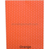 Dotted Washi Orange 65 lb Cover - Sheets 8-1/2 x 11