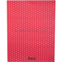 Dotted Washi Red 65 lb Cover - Sheets 8-1/2 x 11