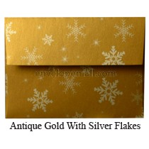 "Stardream Antique Gold Snowflakes - A7 (5-1/4 x 7-1/4"") Envelope"