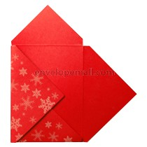 Stardream Jupiter Red White Snowflake Pochette Invitation 5-1/8 x 7