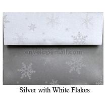 "Stardream Silver Snowflakes - A7 (5-1/4 x 7-1/4"") Envelope"