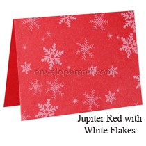 Stardream Jupiter Red White Snowflakes A7 Folded Card, 5-1/8 x 7