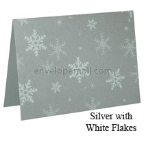 Stardream Silver Snow Flake A7 Folded Cards