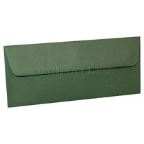 "Carnival Forest Green 4-1/8 x 9-1/2"", (No 10 Sq. Flap) Envelope"