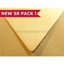 "Stardream Metallic Gold Euro Flap - A7 (5-1/4 x 7-1/4"") Envelope"