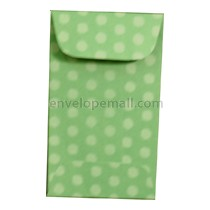 "Dotted Washi Green - Mini Open End (2-1/4 x 3-3/4"") Envelope 100 Pack"