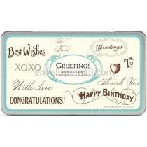Rubber Stamps Greetings, Assorted with Ink Pad