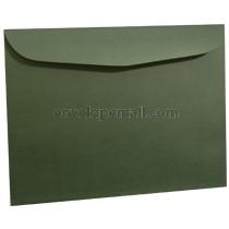 "Carnival Forest Green 9 x 12"" (Booklet) Envelope"