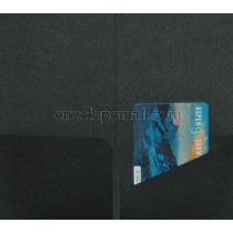 Hotel Key/Gift Card  Holder New Black (3-3/8 x 6),  25 Pack