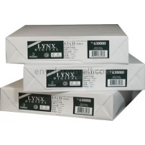 "Domtar Lynx Opaque 8 1/2"" x 11"" 60 lb. Digital Smooth Laser Paper"
