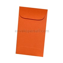 "Astrobright Orbit Orange 2-1/4 x 3-3/4"", (Mini Open End) Envelope"