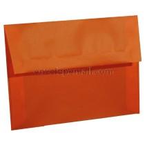 """Translucent Orange - A6 (4-3/4 x 6-1/2"""")  Envelope"""