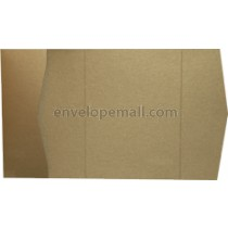 "Stardream Antique Gold 105 lb Cover - Pocket Invitation A7,  5 x 7"" , 25 Pack"