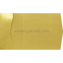 Sirio Pearl Metallic Aurum Gold 105 lb Cover A7 Pocket Invitation