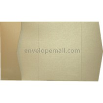 Metallic Gold Linen 84 lb Cover - Pocket Invitation A7,  5 x 7