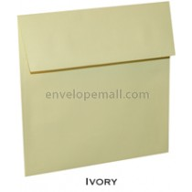 "Loop Linen Ivory - Square (6-1/2 x 6-1/2"") Envelope 100 Pack"