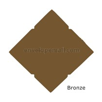 "Stardream Bronze 105 Cover - Pochette Invitation 5-1/8 x 7"" , 25 Pack"