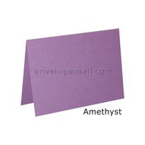 "Stardream Amethyst 105 lb Cover - A2 Folded Card 4-1/4 x 5-1/2"" 50 Pack"