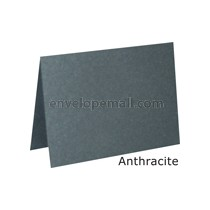 "Stardream Anthracite 105 lb Cover - 4 Bar Folded Card 3-1/2 x 4-7/8"" 100 Pack"