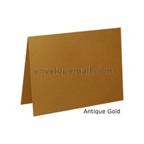 "Stardream Antique Gold 105 lb Cover - 4 Bar Folded Card 3-1/2 x 4-7/8"" 100 Pack"