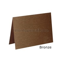 "Stardream Bronze 105 lb Cover - 4 Bar Folded Card 3-1/2 x 4-7/8"" 100 Pack"