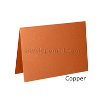 "Stardream Copper 105 lb Cover - 4 Bar Folded Card 3-1/2 x 4-7/8"" 100 Pack"