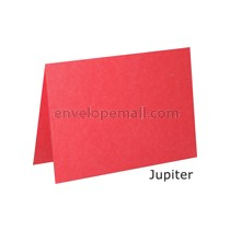 "Stardream Jupiter Red 105 lb Cover - A7 Folded Card 5-1/8 x 7"" 50 Pack"