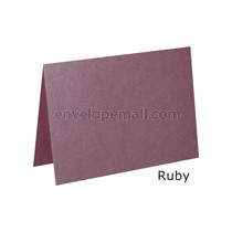 "Stardream Ruby 105 lb Cover - 4 Bar Folded Card 3-1/2 x 4-7/8"" 100 Pack"
