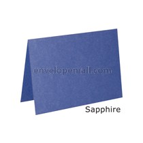 "Stardream Sapphire 105 lb Cover - A2 Folded Card 4-1/4 x 5-1/2""  50 Pack"