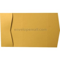 "Stardream Gold 105 lb Cover - Pocket Invitation A7,  5 x 7"" , 25 Pack"