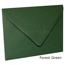 "Carnival Hunter Green ""Euro Flap"" 3-5/8 x 5-1/8"" (4Bar) Envelope 100 Pack"