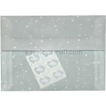 """Translucent Snow Dots - A7 (5-1/4 x 7-1/4"""") Envelope"""