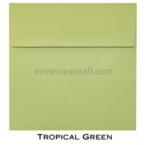 "Synergy Smooth Tropical Green - Square (6-1/2 x 6-1/2"") Envelope 100 Pack"