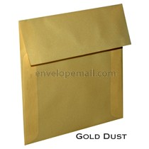 "Translucent Gold Dust - Square (5-1/2 x 5-1/2"") Envelope"