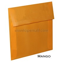 "Translucent Mango - Square (5-1/2 x 5-1/2"") Envelope"