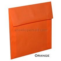 """Translucent Orange - Square (5-1/2 x 5-1/2"""") Envelope"""