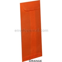 "Translucent Orange - No 10 Policy (4-1/8 x 9-1/2"") Envelope"