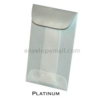 "Translucent Platinum - Mini Open End (2-1/4 x 3-3/4"") Envelope 100 Pack"