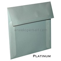 "Translucent Platinum - Square (5-1/2 x 5-1/2"") Envelope"