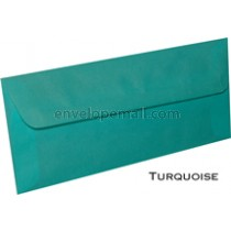 "Translucent Turquoise - No 10 Sq Flap (4-1/8 x 9-1/2"") Envelope 100 Pack"