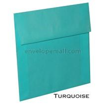 """Translucent Turquoise - Square (5-1/2 x 5-1/2"""") Envelope"""