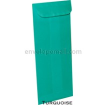 """Translucent Turquoise - No 10 Policy (4-1/8 x 9-1/2"""") Envelope"""