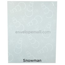 "Translucent Holiday Snowman 30 lb Bond - Sheets 8-1/2 x 11"" 100 Pack"