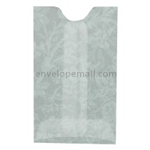 "Translucent Floral White Card Sleeve - 2-1/4 x 3-5/8"" Envelope"